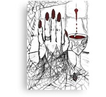 Blood, Chalice, Black Widow Canvas Print