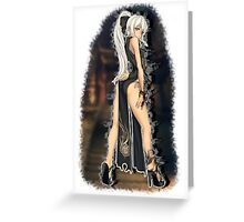 Blade & Soul - Girl Black Flame (Black Outfit) Style 3 Greeting Card
