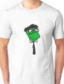 face head glasses snakes bookworm nerd geek ties hornbrille smart funny cool comic cartoon Unisex T-Shirt