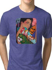 80s girl 5 Tri-blend T-Shirt