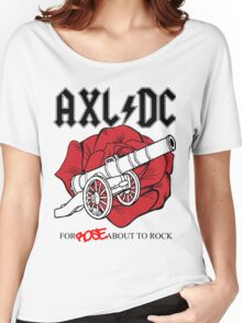 "Axl/DC ""For Rose About To Rock"" Women's Relaxed Fit T-Shirt"