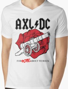 "Axl/DC ""For Rose About To Rock"" Mens V-Neck T-Shirt"