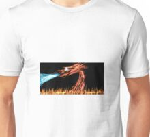 Blue-eyed red dragon Unisex T-Shirt