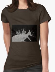 0064 - Brush and Ink - Denning Womens Fitted T-Shirt