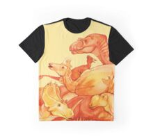 cretaceous congregation - orange & yellow dinosaurs Graphic T-Shirt