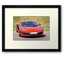 Orange Sports car Framed Print
