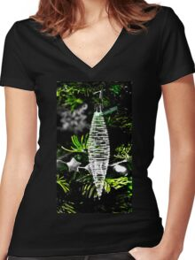 Backlit Glass Ornament Women's Fitted V-Neck T-Shirt