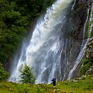 The Aber Falls in Wales by Anthony Hedger Photography