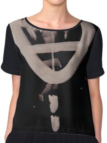 0076 - Brush and Ink - Lol Chiffon Top