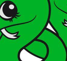 siblings, brothers, sisters, twins 2 babies, child snake pacifier sweet cute kawaii cartoon comic cute Sticker