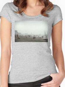 April on Myrtle Beach, South Carolina.  Women's Fitted Scoop T-Shirt