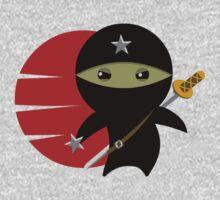 Ninja Star - Darker Version One Piece - Long Sleeve