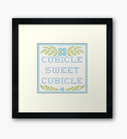 Cubicle Sweet Cubicle Framed Print