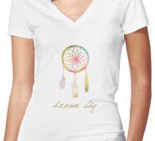Dream Big Dream Catcher Women's Fitted V-Neck T-Shirt
