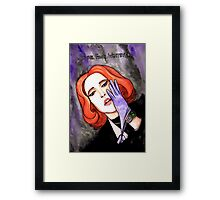 """Scully """"Sure.Fine.Whatever."""" Framed Print"""
