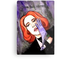 """Scully """"Sure.Fine.Whatever."""" Metal Print"""