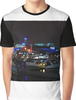 1139 Melbourne at night - Docklands Graphic T-Shirt