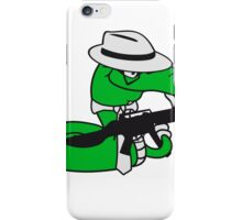 gangster mafia violence weapon machine gun rattlesnake poisonous nasty bite dangerous comic cartoon snake iPhone Case/Skin