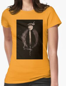 0073 - Brush and Ink - Halide_ Womens Fitted T-Shirt