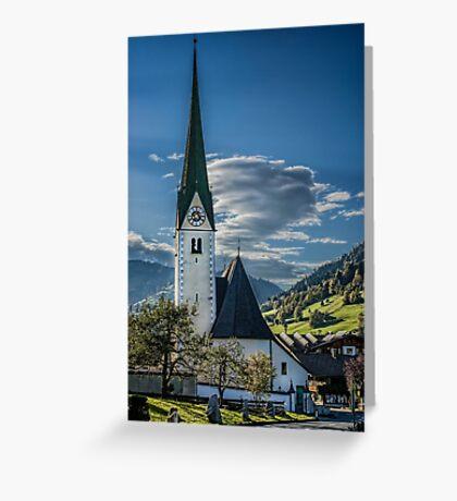 Niederau Village Church Greeting Card