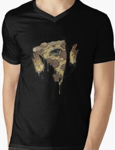 P1ZZA FACE Mens V-Neck T-Shirt