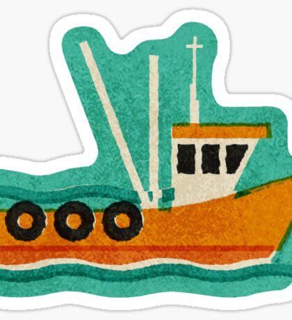 Fishing Trawlers on The Thames Estuary Sticker