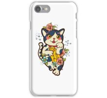 Happy Japanese cat Maneki-neko. Traditional mascot  iPhone Case/Skin