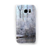 snow covered walk bridge Samsung Galaxy Case/Skin