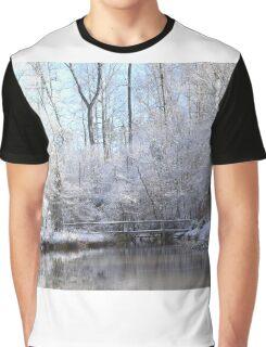 snow covered walk bridge Graphic T-Shirt