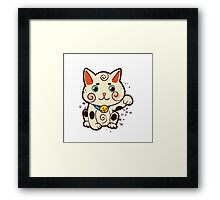 Lucky Japanese cat Maneki-neko. Traditional mascot  Framed Print