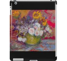 'Still Life with Roses and Sunflowers' by Vincent Van Gogh (Reproduction) iPad Case/Skin