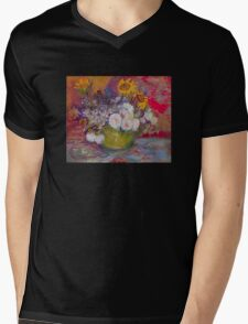 'Still Life with Roses and Sunflowers' by Vincent Van Gogh (Reproduction) Mens V-Neck T-Shirt