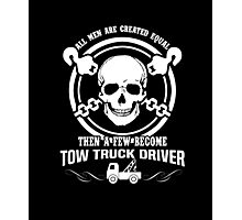 A Few Men Become Tow Truck Drivers Photographic Print