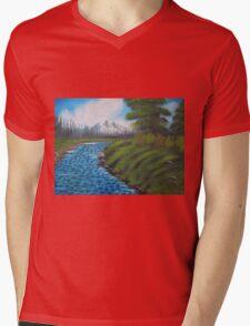 River Rocks Mens V-Neck T-Shirt