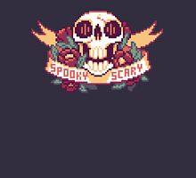 Spooky Scary Pixel Skull Unisex T-Shirt