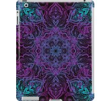 Vintage luxury background with a black backdrop and blue ornaments. iPad Case/Skin