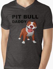 Pit bull Daddy Mens V-Neck T-Shirt