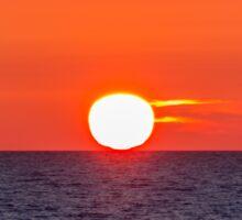 Orange sunset II Sticker
