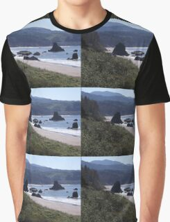 Rocks on the Shore Graphic T-Shirt