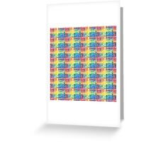 Watercolor Color Squares Greeting Card