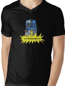 Time And Relative Pixels: Dalek Mens V-Neck T-Shirt