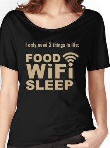 Food Wifi Sleep Women's Relaxed Fit T-Shirt
