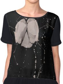 0077 - Brush and Ink - Splay Chiffon Top