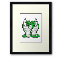 friends team party crew brothers pothead weed smoke joint weed cannabis bong cigarette cannabis drug stoned cobra snake cool Framed Print