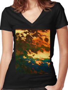 Here Comes The Black Women's Fitted V-Neck T-Shirt