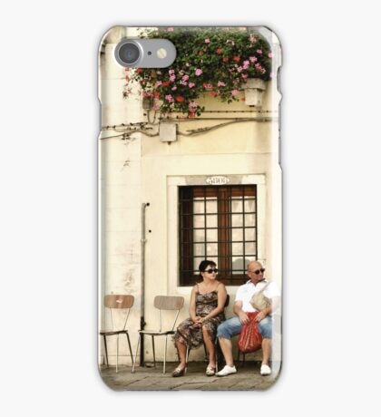 Two empty chairs iPhone Case/Skin