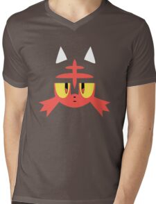 Pokemon Sun / Moon Litten New  Mens V-Neck T-Shirt