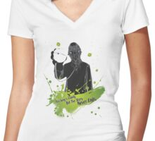 The Story Never Ends Women's Fitted V-Neck T-Shirt