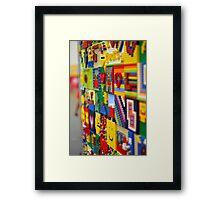 Wall of Lego Framed Print