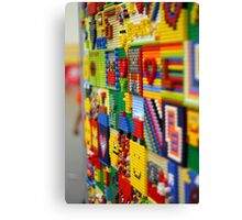 Wall of Lego Canvas Print